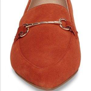 Cambrie Loafer Flat in orange size 6.5